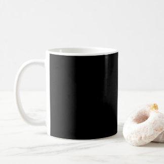Personalizar simplemente negro del color sólido él taza de café