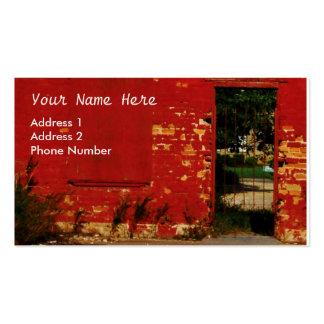 Personalizar urbano de la puerta del ladrillo rojo tarjetas de visita