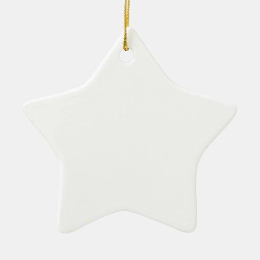 Personalizar usted mismo adorno de cerámica en forma de estrella