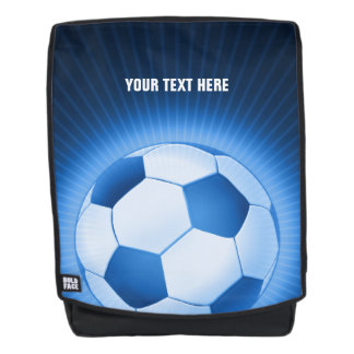 Personalizble Blue Soccer | Football Backpack