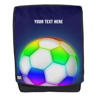 Personalizble Colorful Soccer | Football Backpack
