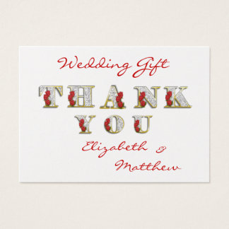 PERSONALIZE 100 THANK YOU CARDS