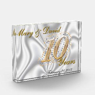 Personalize 10 Year Anniversary Acrylic Award