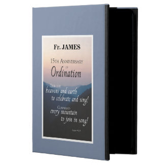 Personalize 15th Anniversary Ordination Congrats Case For iPad Air