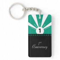 Personalize, 1st Year Employee Anniversary Keychain