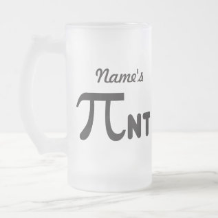 Personalize - 2011 Funny Pi Pint - Pi Day Gifts Frosted Glass Beer Mug at Zazzle