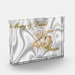 Personalize 25 Year Anniversary Acrylic Award