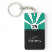 Personalize, 25th Year Employee Anniversary Keychain
