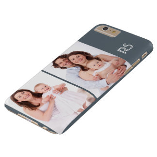 Personalize 2 Photo And Monogram Template Barely There iPhone 6 Plus Case