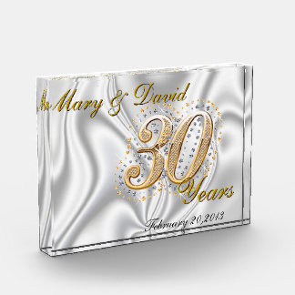 Personalize 30 Year Anniversary Awards