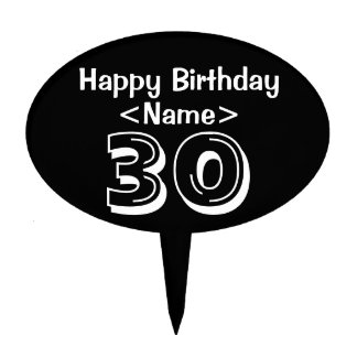 Personalize 30th Birthday Cake Topper