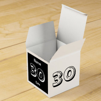 Personalize 30th Birthday Party Favor Box