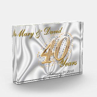Personalize 40 Year Anniversary Award