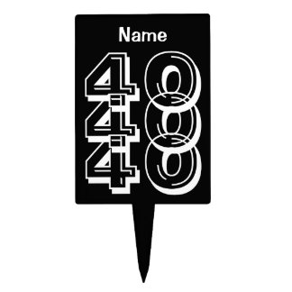 Personalize 40th Birthday Cake Topper