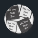 "Personalize 4 Photos Paper Plate<br><div class=""desc"">Create Personal Party Supplies Paper Plates with 4 images.</div>"
