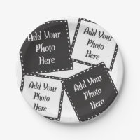 Personalize 4 Photos Paper Plate  sc 1 st  Zazzle & 40th Anniversary Plates | Zazzle