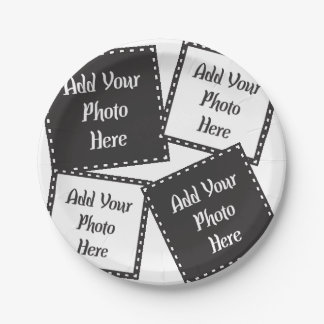 Personalize 4 Photos Paper Plates