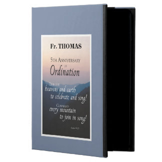 Personalize 5th Anniversary of Ordination Congrats Case For iPad Air