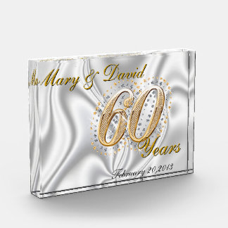 Personalize 60 Year Anniversary Award