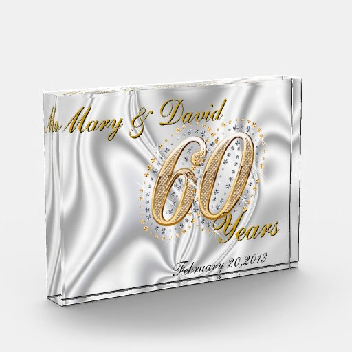 Personalize 60 Year Anniversary Awards