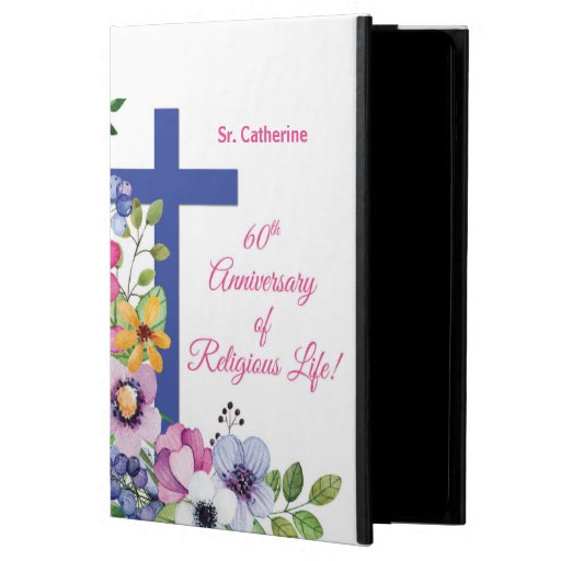 Personalize, 60th Anniversary Nun Religious Life Case For iPad Air