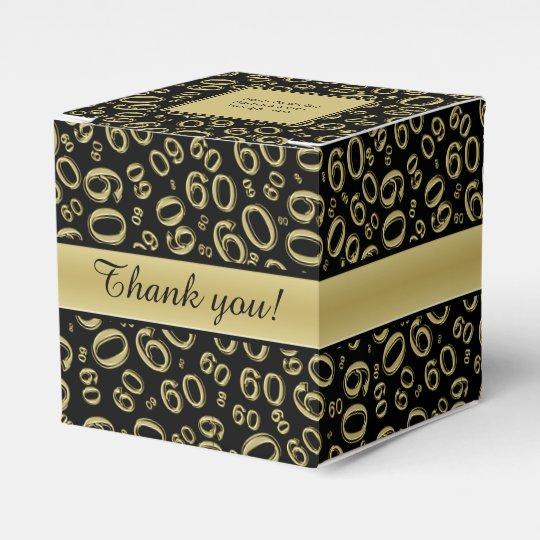 personalize 60th birthday party gold black favor box zazzle com