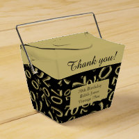 Personalize: 70th Birthday Party Gold/Black Favor Box