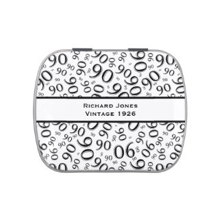 Personalize:  90th Vintage Birthday Party Favor Candy Tin