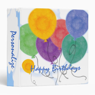 Personalize a Birthday Album 3 Ring Binder
