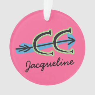 Personalize a Cross Country PINK Ornament