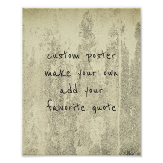personalize a custom poster add a favorite quote
