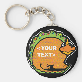 Personalize a Dinosaur, <YOUR TEXT> Keychain
