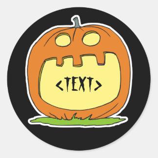 Personalize a Jack-O-Lantern, <TEXT> Classic Round Sticker