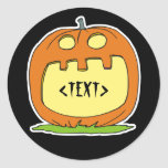 Personalize a Jack-O-Lantern, <TEXT> Round Stickers