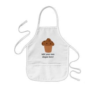 Personalize a Mini Choc Chip Muffin graphic Kids' Apron