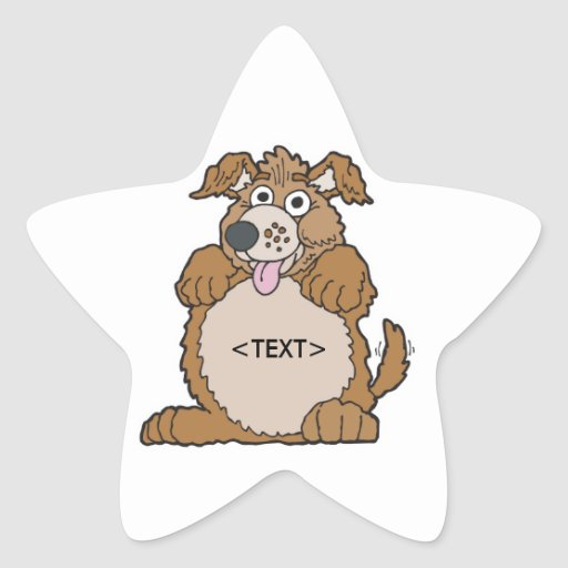 Personalize a Puppy Dog, <TEXT> Star Sticker