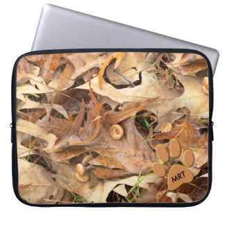 Personalize:  Abstract Nature Photo Autumn Camo Computer Sleeve