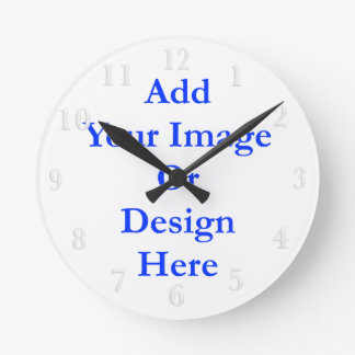 (Personalize) Add a personal touch. White Numbers Round Clock