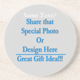 (Personalize) Add a personal touch. White Text Drink Coaster