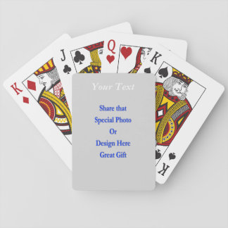 (Personalize) Add a personal touch. White Text Playing Cards