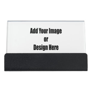 Design your own business card holders zazzle personalize add your personal touch 2 sided desk business card holder colourmoves
