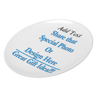 """(Personalize) Add """"Your"""" personal touch. Dinner Plate"""