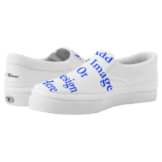"(Personalize) Add ""Your"" personal touch. Name Slip-On Sneakers"