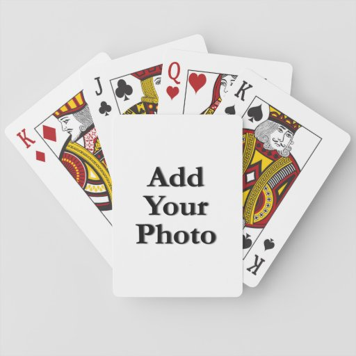 "(Personalize) Add ""Your"" personal touch. Playing Cards"