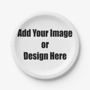 (Personalize) Add \ Your\  personal touch. Paper Plate  sc 1 st  Zazzle & Paper Plates | Zazzle