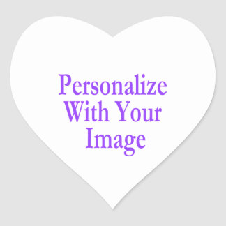 """(Personalize) Add """"Your"""" touch. Heart Sticker"""