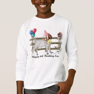Personalize Adorable Boer Goat Kid Birthday Shrt T-Shirt