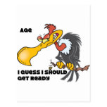 Personalize Age with Buzzard Postcard