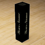 """Personalize Aged To Perfection Black Wine Gift Box<br><div class=""""desc"""">Vintage 1944 1945 1946 1947 1948 1949 1950 1951 1952 1953 1954 1955 1956 1957 1958 1959 1960 1961 1962 1963 1964 1965 1966 1967 1968 1969 1970 1971 1972 1973 1974 1975 1976 1977 1978 1979 1980 1981 1982 1983 1984 Aged to Perfection. Funny 30th 31st 32nd 33rd 34th...</div>"""