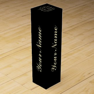 Personalize Aged To Perfection Wine Box